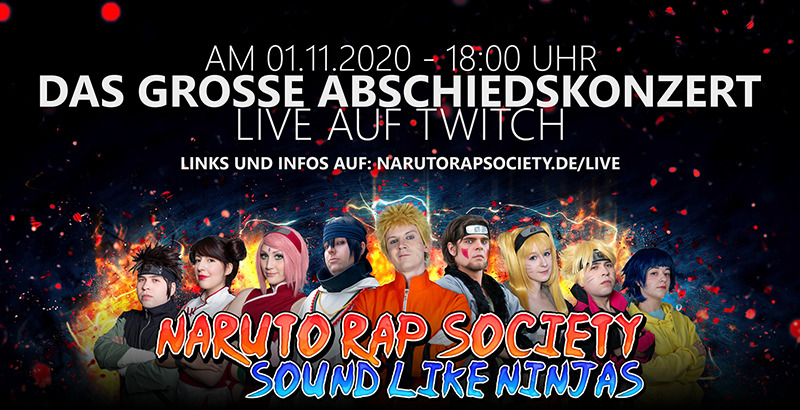 Naruto Rap Society - Konzert Live Stream am 01.11.2020 auf Twitch